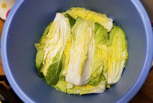 Chinese cabbage salt flooded